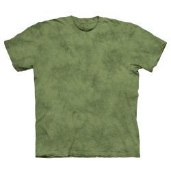 【摩達客】美國進口The Mountain純棉 青蛙綠 環保藝術波紋底紮染T恤