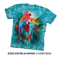 【摩達客】美國進口The Mountain  雙金剛鸚鵡 純棉環保短袖T恤