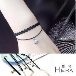 Hera 赫拉 原宿黑色雙層造型吊墜手鍊-2款