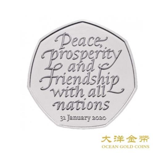 【台灣大洋金幣】2020英國脫歐銅鎳流通紀念幣/