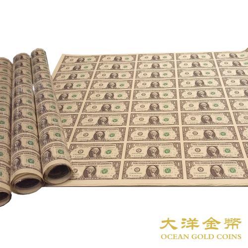 【台灣大洋金幣】【贈收藏紙筒】美金一元
