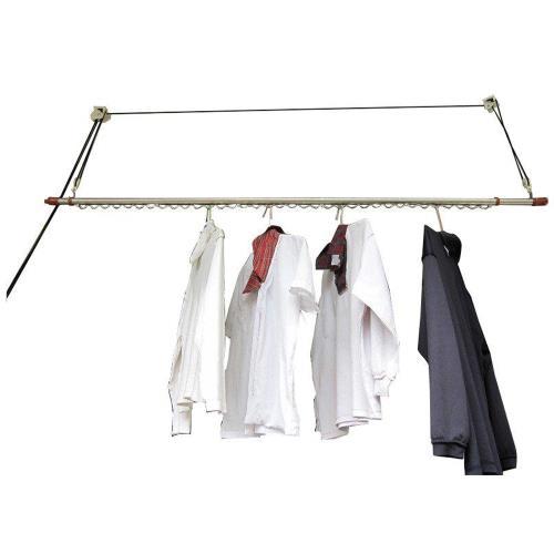 CB001 單桿式升降曬衣架(不含桿)基本款 一桿式 拉繩式晾衣架 不鏽鋼 聰明會煞車 窗簾式省力曬衣架 晒衣架