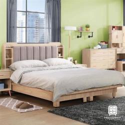 【Hampton 漢汀堡】尤拉系列5尺雙人床組
