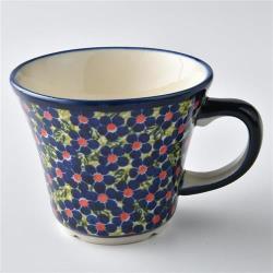 波蘭陶 山花爛漫系列 寬口茶杯 240 ml 波蘭手工製