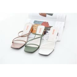 ZUCCA [z6821] 日系交叉環繩低跟鞋-綠色/粉色/白色