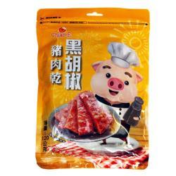 【巧益】黑胡椒豬肉乾 120g/包