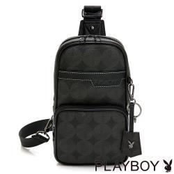 PLAYBOY- 單肩背包 ON a ROLL系列 -灰色