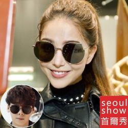 seoul show首爾秀 韓版男女不規則貓眼太陽眼鏡UV400墨鏡 3563