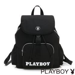 【PLAYBOY】後背包   黑白風尚系列