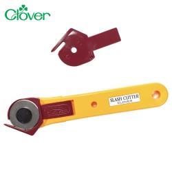 日本可樂牌Clover拼布割絨技法切割刀57-539滾輪式拼布刀(28mm)圓刃割布刀滾刀切刀