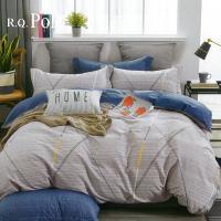 R.Q.POLO  100%精梳棉 三件式兩用被床包組 加州陽光(單人加大)
