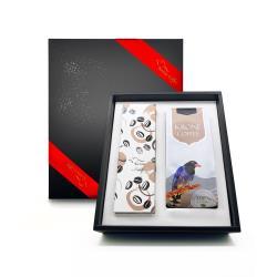 [Krone皇雀] 精選半磅咖啡豆+咖啡封口夾量匙時尚禮盒組 限量送聖誕派對杯防燙隔熱紙杯(5入)