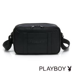 PLAYBOY- 雙層式斜背-小 minimalism -黑色