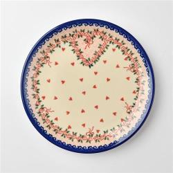 波蘭陶 六月新娘系列 圓形餐盤 19cm 波蘭手工製