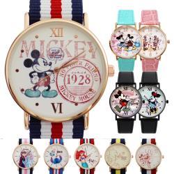 Disney正版授權 迪士尼經典角色俏皮英倫風格手錶