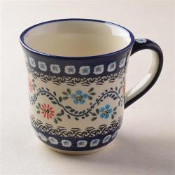波蘭陶 典雅花團系列 陶瓷馬克杯 380ml 波蘭手工製