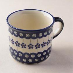 波蘭陶 藏青小卉系列 陶瓷馬克杯 400ml 波蘭手工製