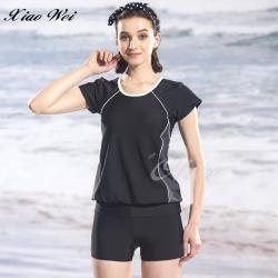 泳之美品牌 時尚二件式短袖泳裝 NO.282258