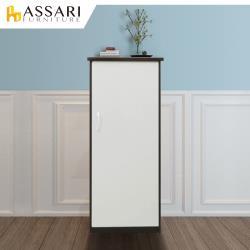 ASSARI-防潮防蛀塑鋼緩衝單門置物鞋櫃(寬44x深34x高117cm)