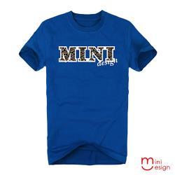 Minidesign-MINI蛇紋英文字母潮流設計短T 五色