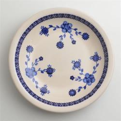 波蘭陶 歐式青花系列 圓形深餐盤 22cm 波蘭手工製