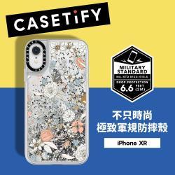 Casetify iPhone XR 耐衝擊流沙保護殼-花繪