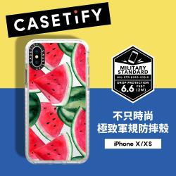 Casetify iPhone X/XS 耐衝擊保護殼-西瓜饗宴