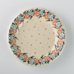 波蘭陶 桃花源系列 圓形深餐盤 22cm 波蘭手工製