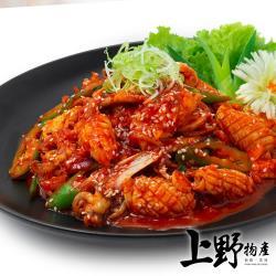 【上野物產】大排檔熱愛 新鮮刻花魷魚(250g土10%/包) x20包
