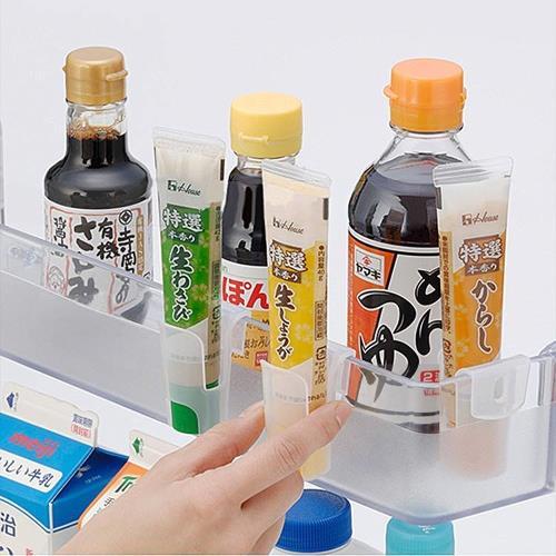 日本製造INOMATA冰箱冷藏-夾扣式醬料收納架(4包12入裝)