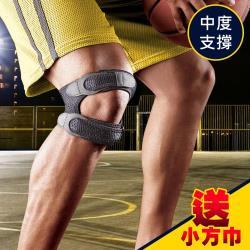 3M 護多樂/雙帶型護膝 09195 (黑色)/運動護具《送 攜帶型小方巾》