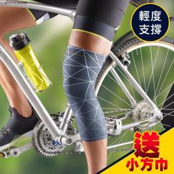 3M 護多樂/運動機能壓縮膝套(2入 二尺寸可選)/運動護具《送 攜帶型小方巾》