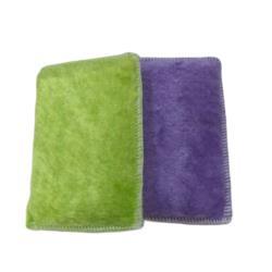 BB001木質纖維洗碗布 超細纖維雙面吸水抹布 不沾油抺布 菜瓜布 擦拭布巾 神奇油切清潔布 10個/組 顏色隨機出貨