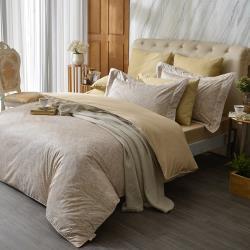 【寶松Royal Cover】雙人120支長絨棉日本布四件式兩用被床包組-微光雅致(兩色任選)