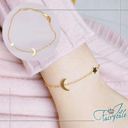 【伊飾童話】月光仙子*星空韓風金繽鈦鋼細手鍊