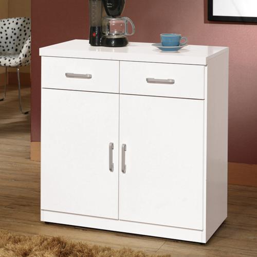 HD 祖迪白色2.7尺雙門餐櫃下座