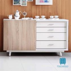 【Hampton 漢汀堡】愛妮莎系列5尺推門餐櫃(5尺推門餐櫃/餐櫃/櫥櫃/收納櫃/置物櫃)