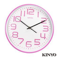 KINYO馬卡龍靜音掛鐘CL-146