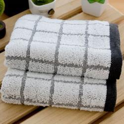 奈米竹炭紗 大方格厚款毛巾(12條裝) 台灣興隆毛巾-