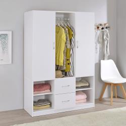TZUMii雅緻雙門二抽衣櫃-白色