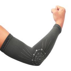 【Vital Salveo 紗比優】能量260D彈力護手臂-1雙入(遠紅外線手臂保護套/竹炭袖套護手臂/運動保健/台灣製造護具)