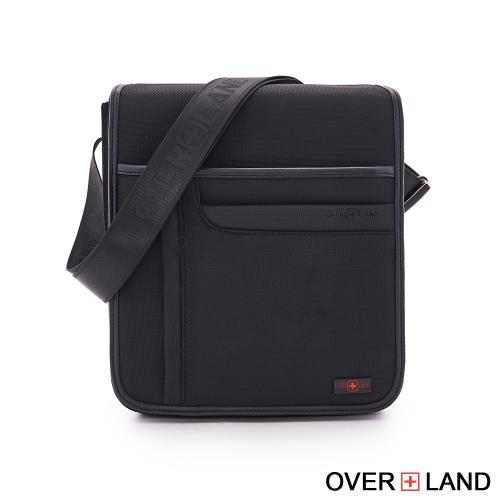 OVERLAND-美式十字軍-直立掀蓋商務休閒斜背包-5621