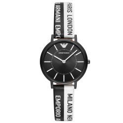 【EMPORIO ARMANI】時尚個性休閒皮帶女錶 AR11253