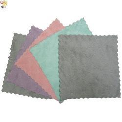 月陽超值5入23X23雙面加厚超細纖維珊瑚絨雙層不卡油抹布洗碗巾擦車巾(232305)
