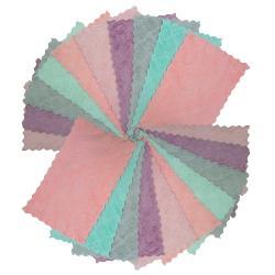 月陽超值20入25X14雙面加厚超細纖維珊瑚絨雙層不卡油抹布洗碗巾擦車巾(251420)