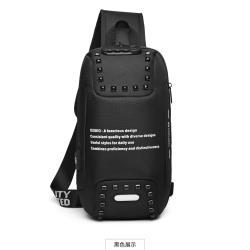 H.S 防盜密碼鎖單肩側背包黑色 OZ9283BK
