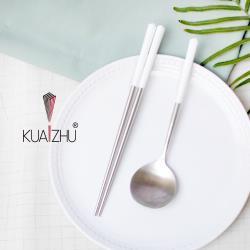台箸KUAI ZHU  不銹鋼餐具組 三角花瓣系列 淨白