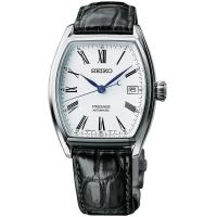 SEIKO精工 Presage Enamel 琺瑯機械錶-白/ 36mm 6R15-03T0S(SPB049J1)