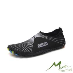 【MINE】彈力太空纖維速乾戶外休閒溯溪潛水五指運動鞋 黑灰