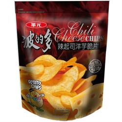 【華元】波的多洋芋片-辣起司口味153g(夾鏈袋設計-超值包)